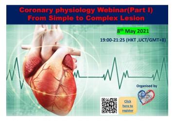 Coronary Physiology Webinar (Part 1), 8 May 2021
