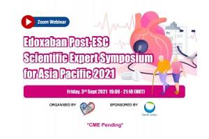 Edoxaban Post-ESC Scientific Expert Symposium for Asia Pacific, 3 September 2021